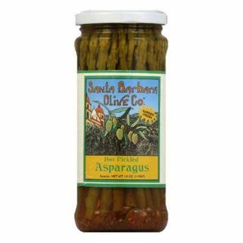 Santa Barbara Olives Asparagus Pickled Hot, 16 OZ (Pack of 6)