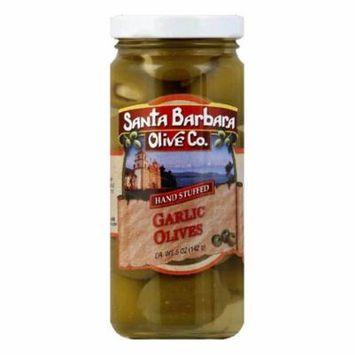 Santa Barbara Olives Stuffed Garlic, 5 OZ (Pack of 6)