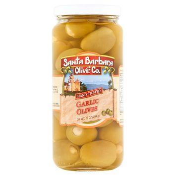Santa Barbara Olive Co. Hand Stuffed Garlic Olives, 10 oz