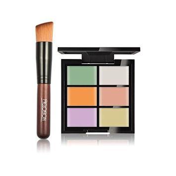 Makeup Cover, Hometom 6-Color Concealer Foundation Primer + Primer Combination Brush Skewers (A)