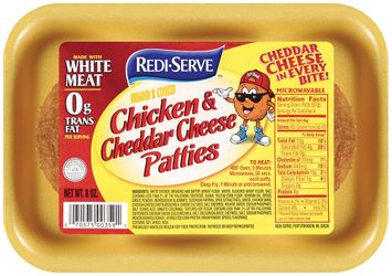 redi-serve™ breaded & cooked chicken & cheddar cheese patties