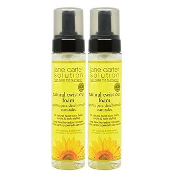 Jane Carter Natural Twist Out Foam 8oz Pack of 2 by Jane Cosmetics