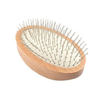 Pretty See Detangling Hair Brush Soft Massage Comb Wooden Air Cushion Hairbrush