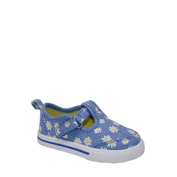 Wonder Nation - Wonder Nation Infant Girl Daisy T-strap Casual Shoes [name: size value: size-blue]