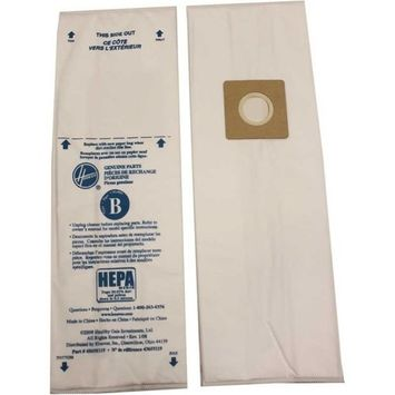 Hoover Lightweight Upright Type B Disposable Hepa Bags 1 Single Bag Only Part - 43655119, 4010102B