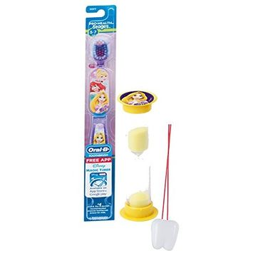 Disney Tangled Inspired 2pc Bright Smile Oral Hygiene Set! Princess Rapunzel Toothbrush & Brushing Timer! Plus Bonus