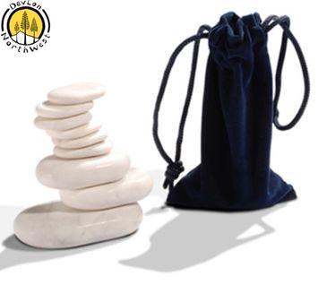 Devlon Northwest Massage Marble Stone Set + 9 PC + Facial Massage Set + Cold Stones + Hot Therapy