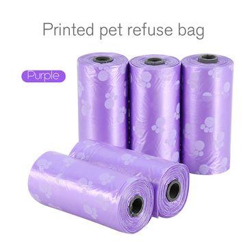 5 Rolls Pet Dog Cat Waste Clean Poop Bags