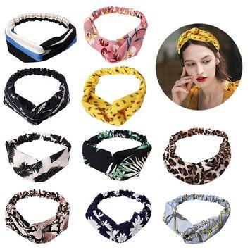 10PCS Boho Headbands for Women,Kapmore Vintage Flower Printed Elastic Head Wrap Twisted Hair Accessories Headwear Headdress [name: actual_color value: actual_color-multicolor2]