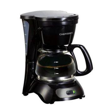Chefman Coffee Makers 4-Cup Compact Coffee Maker Black RJ14-4-M