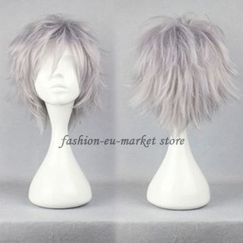 Christmas Unisex Wigs Short Synthetic Cosplay Wig Anime Hair Tail Full Wigs Heat Resistant Synthetic Wig Wigs Japanese Kanekalon Fiber 20 Colors Full Wigs With Free Wig Cap