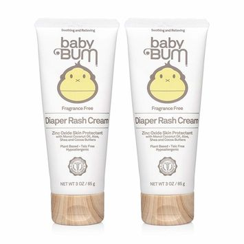 Baby Bum Diaper Rash Cream Fragrance Free Natural Zinc Oxide for Maximum Relief and Rash Prevention, 3 oz (Pack of 2)