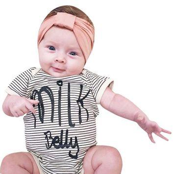 SMTSMT 2017 Baby Kids Boys Girls Letter Print Romper Jumpsuit Outfits