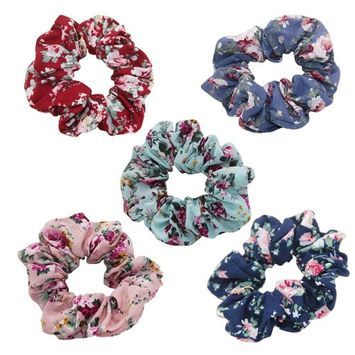 Colorful Flower Hair Scrunchies Lovely Scrunchie Accessories HBHG1707