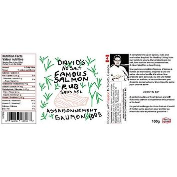 David's Famous Salmon Seasoning Rub SALT FREE (7.8 oz (2 pack))