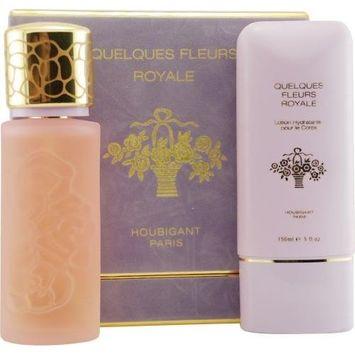 Quelques Fleurs Royale By Houbigant For Women Eau De Parfum Spray 3.3 Oz & Body Lotion 5 Oz