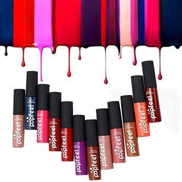 Lipstick, Hatop 12 Colors Set Makeup Matte Lipstick Lip Gloss Pencil Beauty Long Lasting