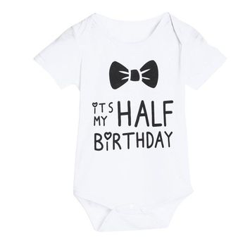 Baby Girl Jumpsuit,SMTSMT Girls Letter Print Romper Jumpsuit Outfits (6-9M, White)