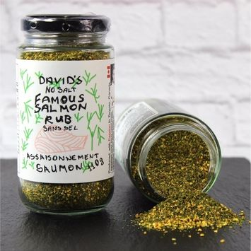 Davids Famous Salmon Rub 3.9 oz SALT FREE