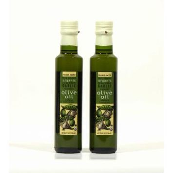 100% Spanish Organic Extra Virgin Garlic Flavored Olive Oil - 2 Pack