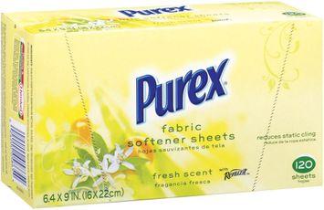 Purex Fabric Softeners Fresh Scent W/Renuzit  Fabric Softener Sheets 120 Ct Box