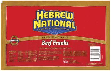 Hebrew National Beef 20 Ct Franks