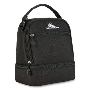 High Sierra Stacked Compartment Lunch Bag, Black