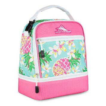 High Sierra Stacked Compartment Lunch Bag Pineapple Party/Pink Lemonade/White - High Sierra Travel Coolers