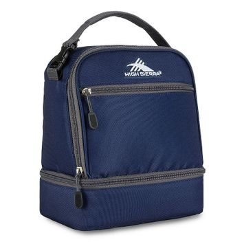 High Sierra Stacked Compartment Lunch Bag True Navy/Mercury - High Sierra Travel Coolers