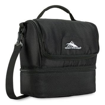 High Sierra Double-Decker Lunch Bag Black - High Sierra Travel Coolers