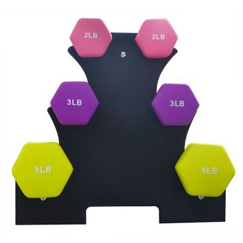 Everyday Essentials Dumbbell Set with Stand (2lbs, 3lbs, 5lbs set) [name: size value: size-20pounds]