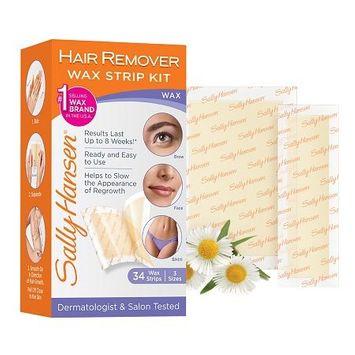 Sally Hansen Hair Remover Wax Strip Kit 1.0 box(pack of 12)
