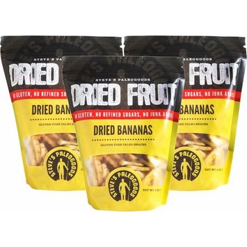 Steve's PaleoGoods, Dried Fruit Bananas, 6 oz