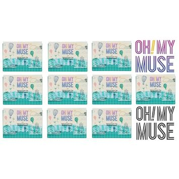 [Oh!My Muse] Natural Green Tea Oil Absorbing Sheets, Blotting Paper, 50 count (10 Packs) : Beauty