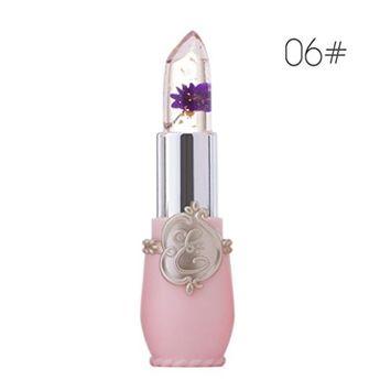 CYCTECH 6 Colors Liquid Light up Flower Crystal Jelly Lipstick Magic Temperature Change Color Lip (F)