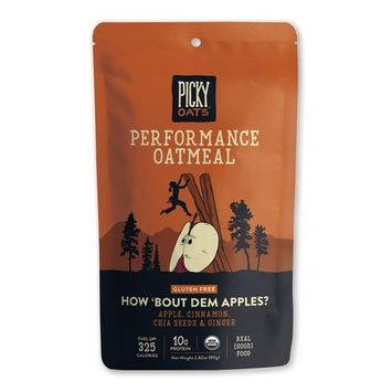 Picky Oats Organic Performance Oatmeal, How 'Bout Dem Apples, 2.8 oz (Pack of 10) By Picky Bars
