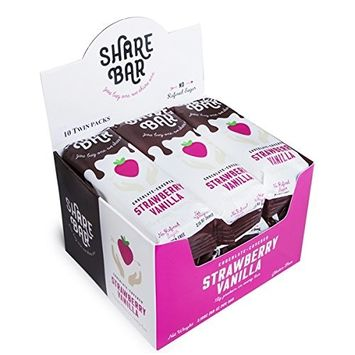 Steve's PaleoGoods, ShareBar Protein Bar Chocolate-Covered Strawberry Vanilla, 2.15oz