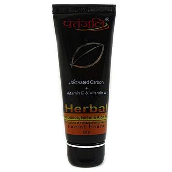 Patanjali Activated carbon facial foam 60 gm x pack of 2