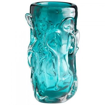 Cyan Blue 11.5In. Home Accent Vase 05332
