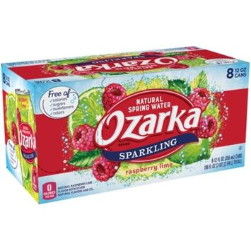 Ozarka Raspberry Lime Sparkling Water, 12 Fl. Oz., 8 Count