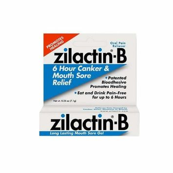 Zilactin-B Oral Pain Reliever, Long Lasting Mouth Sore Gel 0.25 oz