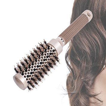 Barrel Hair Brush, Enshey Anti-Static Nano Thermal Ceramic Curly Round Brush Styling Hair Curling Roll Comb Beauty Tools (32mm)