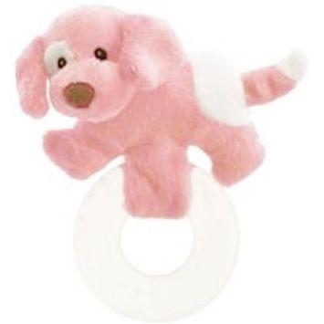 Baby Gund Spunky Puppy Teether - Pink