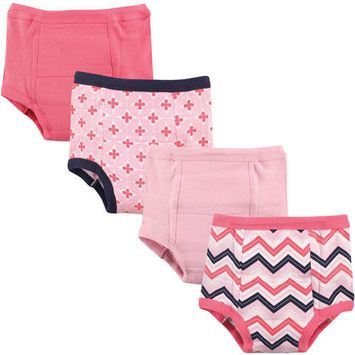 Luvable Friends Baby Boy and Girl Training Pants, 4-Pack - 3T - Chevron