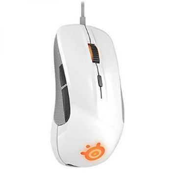 Steeseries Steelseries Rival 1000HZ 50-6500 Cpi Soft Touch Coating Optical Gaming Mouse White