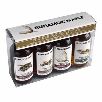 Runamok Maple, Organic Vermont Maple Syrup, Tea Pairing Collection, 2 oz (4 count), 60mL, Traditional and Infused Organic Maple Syrup Varieties