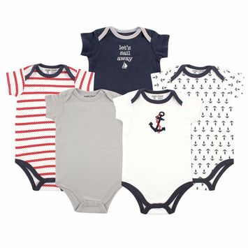 Baby Boy Bodysuits, 5-Pack