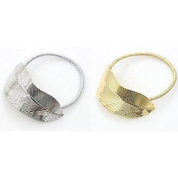 Cuhair(tm) 2pcs Leaf Design Punk Women Girl Hair Rope Tie Rubber Ponytail Holder Accessories