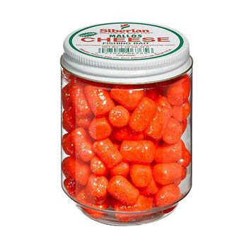 Atlas Mike's Jar of Siberian Cheese Glitter Marshmallow Salmon Fishing Bait Eggs