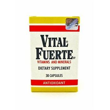 New Vital Fuerte Vitamins & Minerals Dietary Supplement 30 Capsules Antioxidant